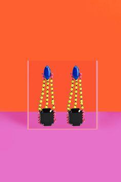 Neon Deco Earrings