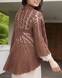 crochet 2way jacket