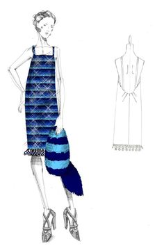 Costume sketch from The Great Gatsby  Inward Facing Girl - Adventures in Life + Design