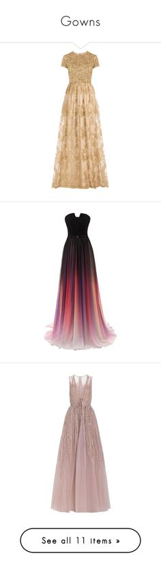 """Gowns"" by megmara ❤ liked on Polyvore featuring dresses, gowns, long dresses, vestidos, gold, long sequin dress, lace evening gowns, long fitted dresses, lace corset and lace dress"