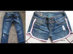 Shorts Jeans Diy Shorts Jeans Com Renda How To Make Jeans Sewing Paterns Denim Ideas Refashion Diy Fashion Diy Clothes Diy Jeans, Shorts Diy, Diy Ripped Jeans, Diy Clothes Refashion, Shirt Refashion, Diy Clothing, Sewing Clothes, Clothing Patterns, Fashion Pants