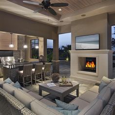This is what I call luxury outdoor living