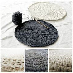 How to make FLAT circles: SINGLE CROCHET CIRCLES (sc)...Multiples of 6 sc. Start with 6 sc and increase 6 sc per round. HALF DOUBLE CROCHET CIRCLES (hdc)...Multiples of 8. DOUBLE CROCHET CIRCLES (dc)...Multiples of 12. ❥ 4U // hf