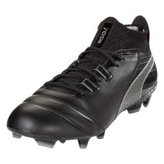 PUMA ONE 17.1 FG Firm Ground Soccer Cleat Black Black Silver-11.5 Leather 39344da4c08bf