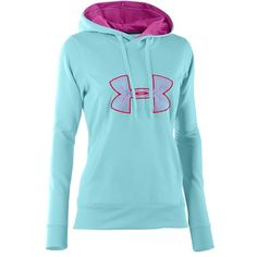 Under Armour® Women's Big Logo Hoodie (Color Cerise/Gray/Gray) {{want some more of these from Santa. I'm a hoodie n jeans kinda girl; Athletic Outfits, Athletic Wear, Sport Outfits, Athletic Style, Athletic Clothes, Fall Outfits, Nike Under Armour, Under Armour Women, Under Armour Sweatshirts