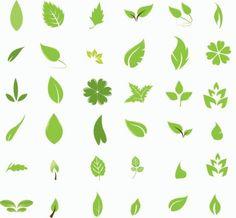 さらっとシンプルな葉っぱ(Leaves)のイラスト素材