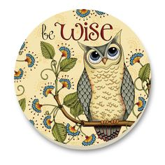 Be Wise Owl Clock Face