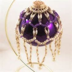 Pearl Ornament Cover Pattern, Beading Tutorial in PDF | ZaneyMay ...