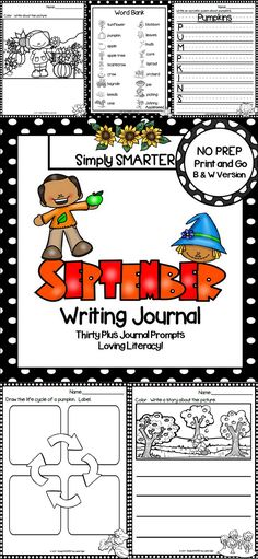 Are you looking for a NO PREP literacy activity for preschool, kindergarten, or first grade? Then enjoy this writing journal which is comprised of THIRTY PLUS HARVEST themed WRITING JOURNAL PROMPTS. The differentiated journal prompts can be used for writers' workshop, literacy centers, independent work, content lessons, and homework. The journal pages can be chosen by the teacher to best meet the needs of the student and assembled into a journal with the provided cover.