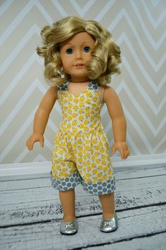 "Create Kids Couture Rayna Retro Romper 18"" doll"