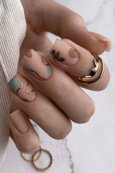 Neutral Nail Designs, Neutral Nails, Nude Nails, Gel Nails, Beige Nail, Nail Polish, Chic Nails, Stylish Nails, Trendy Nails