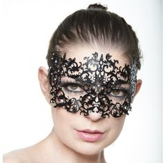 Black Floral Laser Cut Masquerade Mask -Made with eco-friendly metal material. -Laser Cut -Beautiful Rhinestones design.  -One size fits most. -Perfect for masquerade balls, weddings, proms, parties, dances, music festivals, raves, Mardi Gras, etc. K050 Jewelry