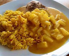 """Rezept Hähnchen in Gemüserahm """"Curry-Ananas"""" von wsonja24 - Rezept der Kategorie Hauptgerichte mit Fleisch"""