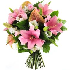 Just for You | Pretty pink lilies, vivid anthiriums, snap dragons, and fresh pink roses