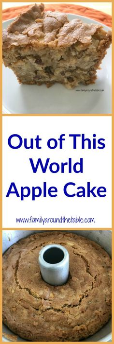 of This World Apple Cake Out of This World Apple Cake is a family favorite from a beloved Savannah,GA institution!Out of This World Apple Cake is a family favorite from a beloved Savannah,GA institution! No Bake Desserts, Just Desserts, Delicious Desserts, Dessert Recipes, Apple Desserts, Baking Desserts, Fall Desserts, Apple Cake Recipes, Baking Recipes