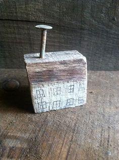 Whitewash House Primitive Rustic Nail Home Folk Art by A Gambrel OOAK | eBay