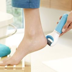 NEW Perfect Electronic Pedicure Foot File 360 Degree Hard Skin Remove Blue