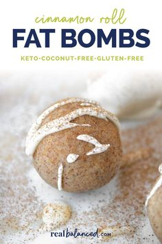 These Cinnamon Roll Fat Bombs are a perfect keto-friendly dessert to curb your sweet tooth! These fat bombs are low-carb, keto, gluten-free, grain-free, vegetarian, refined-sugar-free, and only 1.4g net carbs! #lowcarb #keto #glutenfree #grainfree #vegetarian #refinedsugarfree #fatbomb #fatbombs #vegetarianketo #ketodessert Keto Friendly Desserts, Low Carb Desserts, Low Carb Recipes, Easy Recipes, Atkins Recipes, Free Recipes, Stevia, Dieta Macros, Keto Diet Drinks