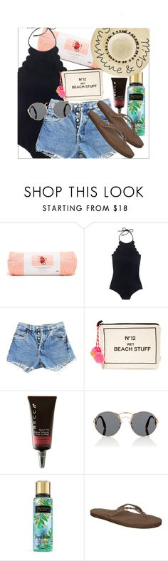 """""""sunshine & chill"""" by rissarenee37 ❤ liked on Polyvore featuring ban.do, J.Crew, Levi's, Bag-All, Prada, Rainbow and Betsey Johnson"""