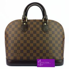 LV ALma Pm Damier Ebene Canvas With Leather VeryGood Condition Price- RM3xxx Ref.code-(BVLUU-1) More Information Pls Email  (- luxuryvintagekl@ gmail.com