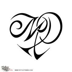 Tatuaggio di Cuore M+P, Amore tattoo - custom tattoo designs on TattooTribes.com