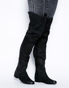 Enlarge ASOS KEEP IT UP Leather Thigh High Boots