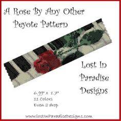 A Rose By Any Other Peyote Bracelet Pattern