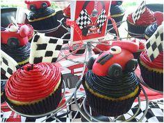 Let's Race...Race Car Cuppie Cakes