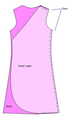 Lovely, free wrap dress pattern