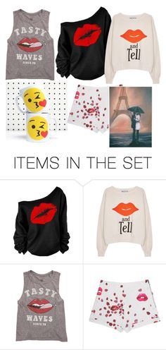 """""""😘 (kisses) don't hurt!"""" by fashionistagirly321 ❤ liked on Polyvore featuring art"""