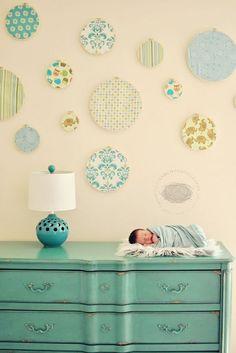 Loving these offbeat nursery color schemes from http://lonadeanna.blogspot.com