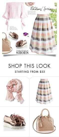 """Untitled #128"" by craftsperson ❤ liked on Polyvore featuring Banana Republic, Chicwish and embellishedshoes"