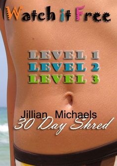 Jillian Michaels 30 Day Shred ~ Free Online frugal fitness tips, thrifty fitness tips