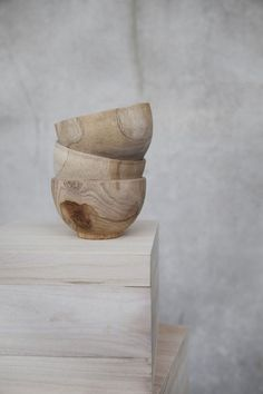 wood bowls - Concrete and timber
