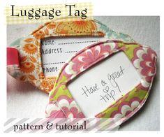 DIY Fabric Luggage Tags