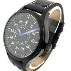 Ticino Type B Automatic Pilot Watch PVD Sapphire Crystal w/ Superlume