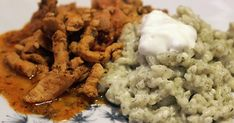 Risotto, Mashed Potatoes, Grains, Rice, Meat, Chicken, Ethnic Recipes, Food, Whipped Potatoes