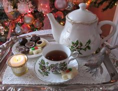 """Rose Chintz Cottage: """"Christmas in July"""" Tea Party"""