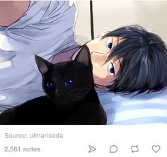 I can't tell of it's haru or kageyama or any other black haired - blue eyed anime character hmm