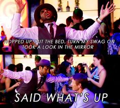Tom Haverford! I can't wait til Parks N Rec comes back onnn :)