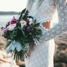 "Crochet Lace Boho Wedding Dress with Cut Out Back for Hippie Bride - ""Barlow"" by Daughters of Simone"