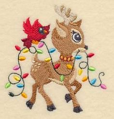 Machine Embroidery Designs at Embroidery Library! - Reindeer