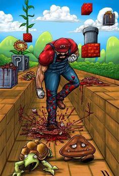 #Mario' smashing #Goombas and #Koopas !