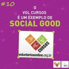 Porque nós oferecemos o VOL Cursos, que são capacitações para ONGs e voluntários por meio da internet! http://voluntariosonline.tumblr.com/post/33646782596/vol-cursos Isso é #socialgoodbr!
