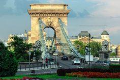 The Széchenyi Chain Bridge - null Cityscapes, Tower Bridge, Brooklyn Bridge, Chain, Travel, Viajes, Necklaces, Destinations, Traveling
