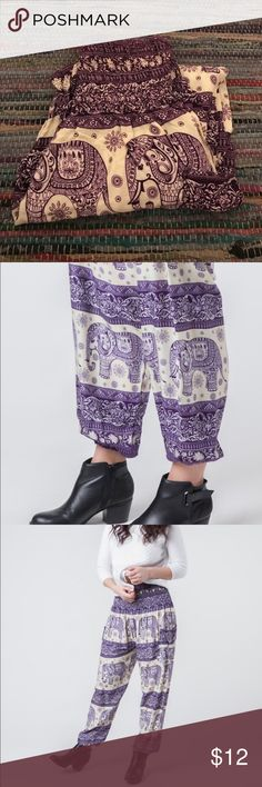 Purple Elephant Harem Pants Super comfy, like new, worn a few times. One size fits all. The Elephant Pants Pants