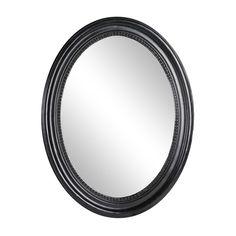 Great Spiegel oval Paulownia Holz schwarz ca B x H cm