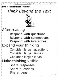 Think Beyond the Text