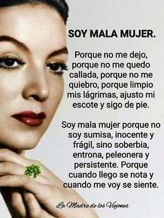 ¡¡ Soy mala mujer !! Spanish Quotes Love, Spanish Inspirational Quotes, Frida Quotes, Latinas Quotes, Mexican Quotes, Selfie Quotes, Quotes En Espanol, Empowerment Quotes, Motivational Phrases