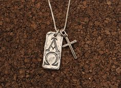 Favorite reminder that God is in control. I am the Alpha & Omega. Sterling silver from Visible Faith Jewelry